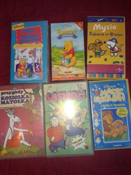 Bajki dla dzieci na kasetach -zestaw 6 kaset za 12 zł