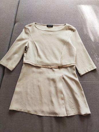 Bluzka baskinka beżowa Blacky Dress S 36 Zara