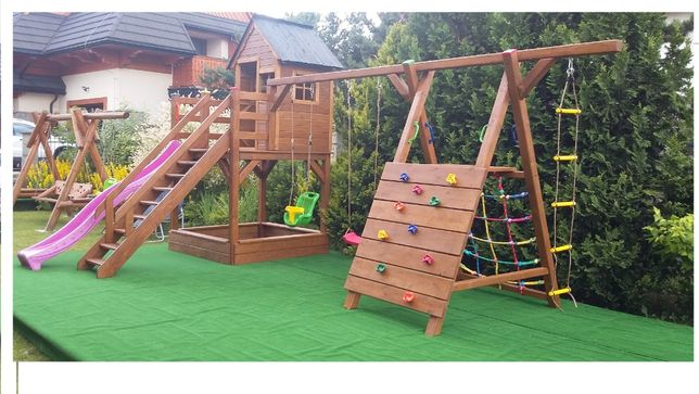 Plac zabaw dla dzieci, huśtawka, zjeżdżalnia NOWY