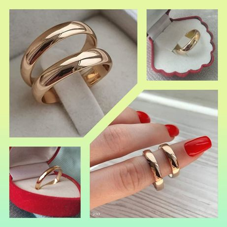 Обручальные кольца 3мм,4мм,5мм,6мм классическ. стиля из медицинского