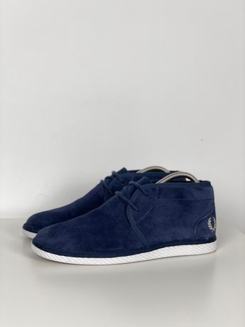 Туфли кеды ботинки 41 Fred Perry original синие высокие идеал