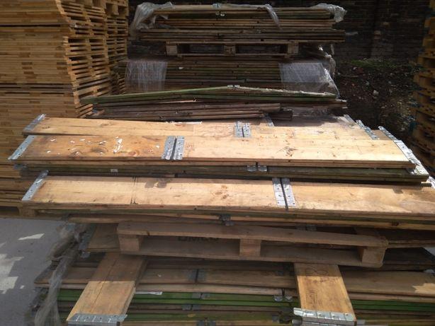 Nadstawki paletowe jasne drewniane 120x80 na euro skrzynia nadstawka