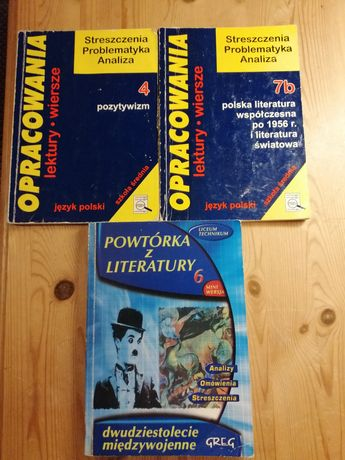 Opracowania lektur-cena za sztukę