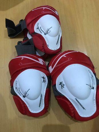 Conjunto joelheiras, cotoveleiras e luvas de proteção