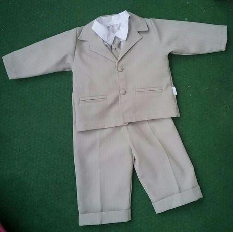 Komplet ubranko do chrztu , chrzest dla chłopca rozm.74