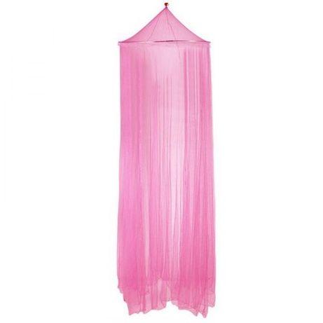 Różowy baldachim z koroną dla dziewczynki nad łóżko / łóżeczko