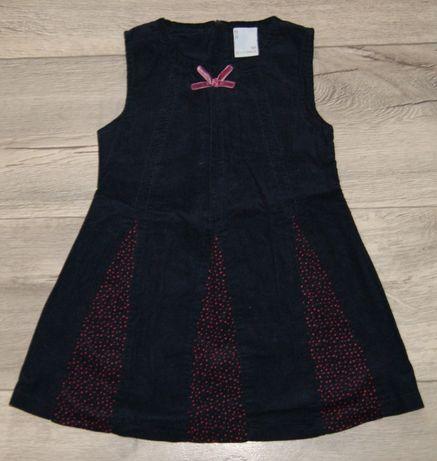 COCCODRILLO sukienka granatowa sztruks r. 92cm