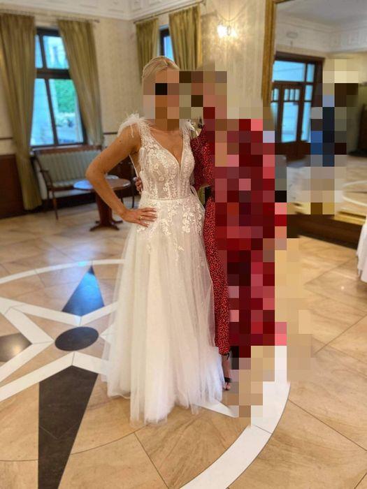 Piękna suknia ślubna Madonna Gabbiano Ime Sposa Harper 36 38 koronka Pabianice - image 1