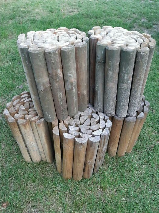 Rollborder, płotek drewniany, obrzeże trawnikowe, palisada Leszno - image 1
