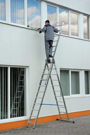 3-секционные лестницы(стремянки) алюминиевые, приставные