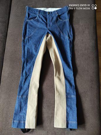 Bryczesy 176 ICE Line pełny lej jeansowe jeans westernowe west western