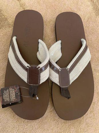 Кожаные шлепки HANBURY men's shoes. 41/42