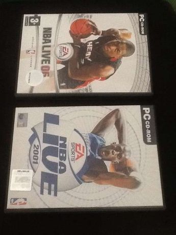 PC cd Rom NBA Live 2001 e NBA Live 2006