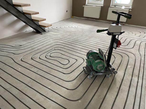 Frezowanie pod ogrzewanie podłogowe