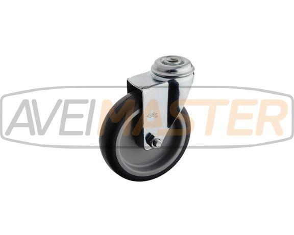 Roda TPR Giratoria 100x27x10,1 FP Altura 126 - 60Kgs - 075010