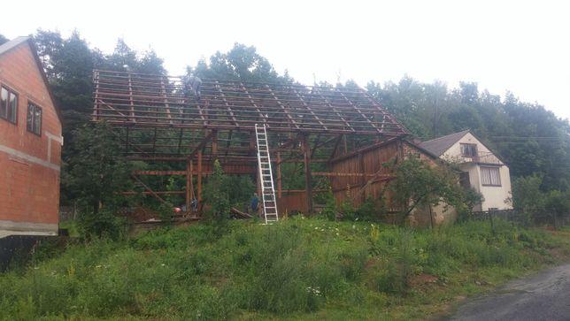 Rozbiórki stodół,stodoła. Wymiana desek na nowe ,Skup starego drewna