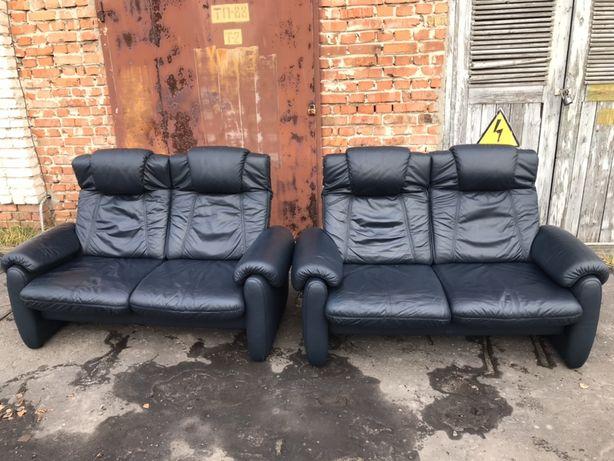 Диван, шкіряний, реклайнер, диван двойка, кожа, меблі, мебель, бу