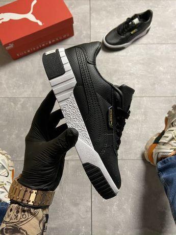 Кроссовки Puma Cali Black Leather | кросівки пума Женские
