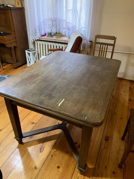 Stół dębowy rozkładany 98x235 / 98x129