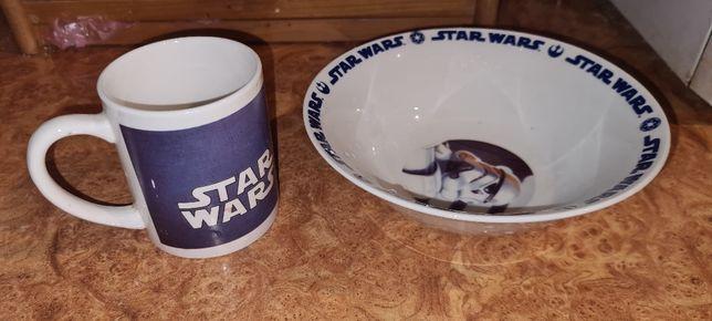 """Набор детской посуды """"Star Wars """"глубокая тарелка и чашка"""