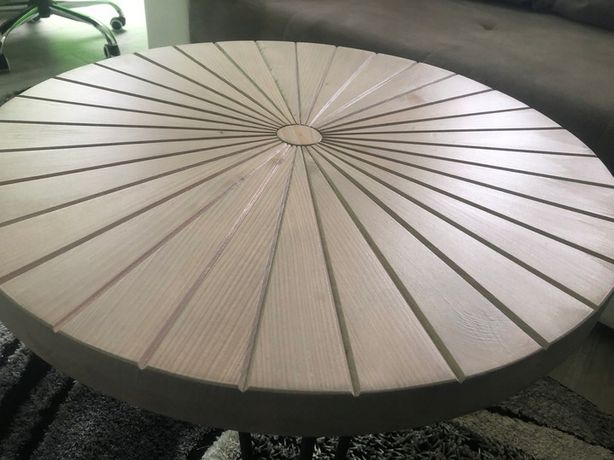 Stolik kawowy , na balkon , ozdobny 60 cm słońce DESIGN