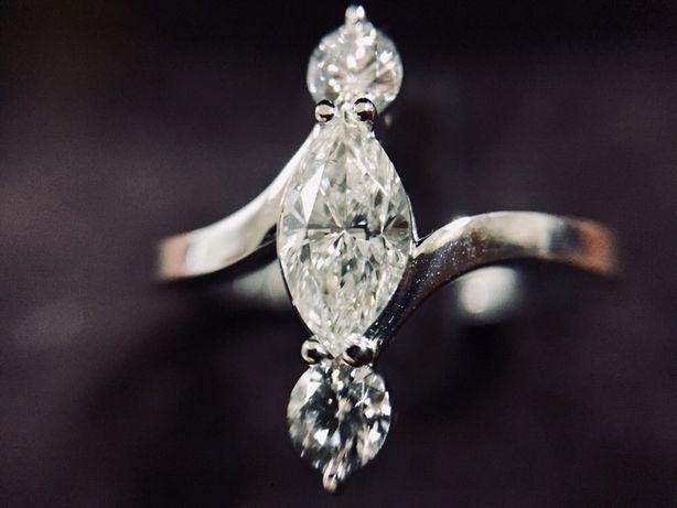 Золотое кольцо TEAMO с Бриллиантами 1 карат.