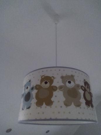 Lampa sufitowa dla dzieci, plafon z misiami