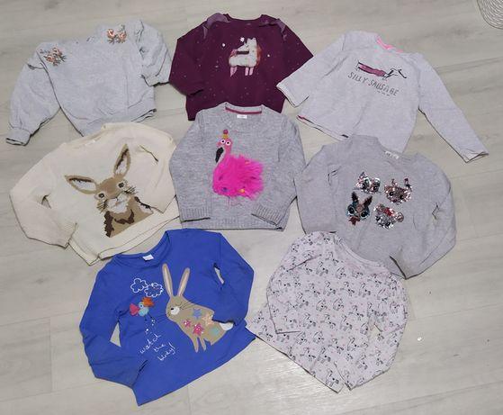 Пакет свитер, свитшот, реглан next, h&m на 4-5 лет