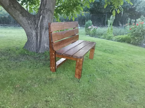 Ławka ogrodową drewniana