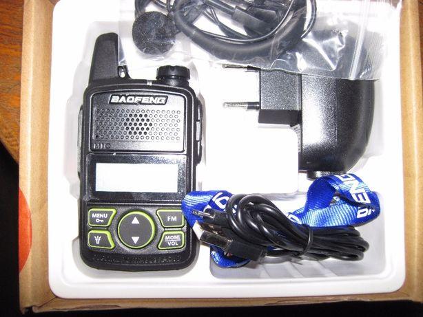 Радиостанция BAOFENG Mini № T1 20 каналов 400-470MHz, дальность 3 км