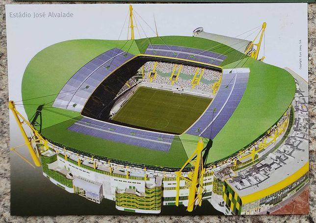 15 Postais Estádios Euro 2004 Sporting Benfica Leiria Aveiro Porto etc