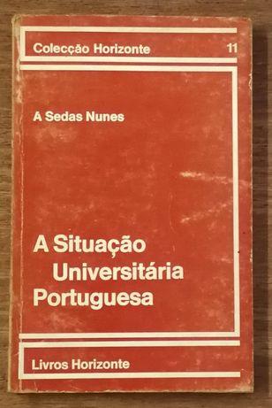 situação universitária portuguesa, a. sedas nunes, livros horizinte