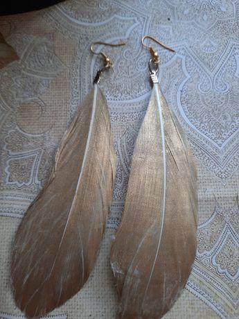 kolczyki długie pióra
