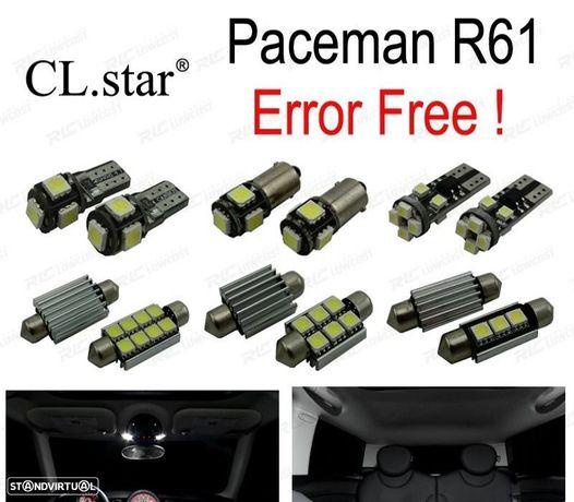 KIT COMPLETO DE 19 LÂMPADAS LED INTERIOR PARA MINI COOPER PACEMAN R61 2012 +