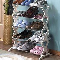 Стойка подставка органайзер для хранения обуви Shoe Rack 5 полок на 15