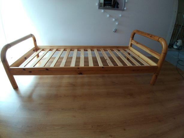2 x drewniane łóżko ze stelażem