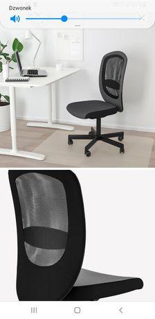 Fotel biurowy krzesło obrotowe regulacja kółka siateczka na plecach