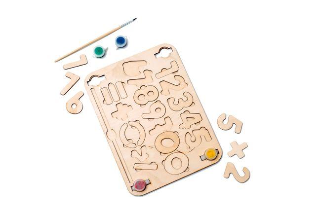 Набор цифр для детей. Деревянные игрушки. Игрушки для развития