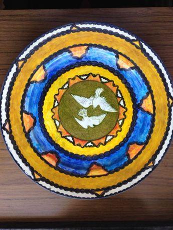 Prato Madeira Pintado à Mão (Pombas) - Victor Ramos