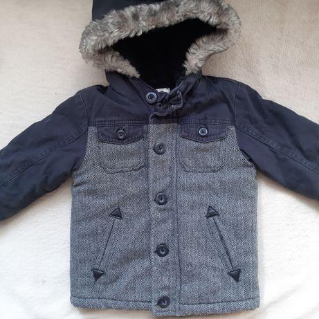 Ciepła kurtka zimowa 80-86