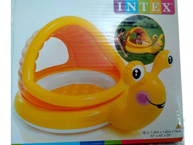 Надувной бассейн Линивая Улитка INTEX