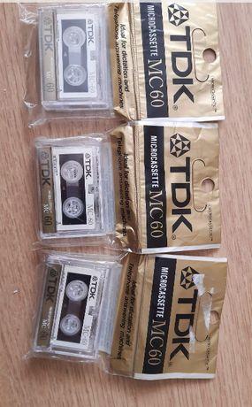TDK MC60 +VHS E30 i E60 Basf, BS, HI8 kamera oraz czyszcząca kamera.