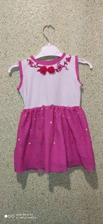 Платье на девочку 1-2 года ручная робота