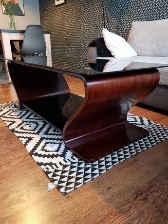 Ławo stół z czarnego szkła