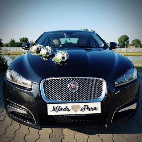 Auto do Ślubu/Wesela, Piękny JAGUAR XF-Czarny Perłowy