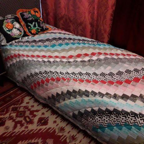 Одеяло-покрывало печворк. Ручная работа.