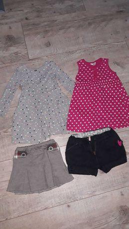Paka zestaw Ubranka dla dziewczynki 92,sukienki bluzki spodnie