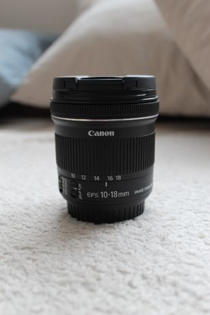 Canon EF-S 10-18 mm f/4.5-5.6 IS STM jak nowy