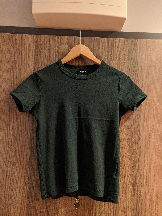 Reserved t-shirt krótki rękaw butelkowa zieleń S nowy Wrocław - image 1