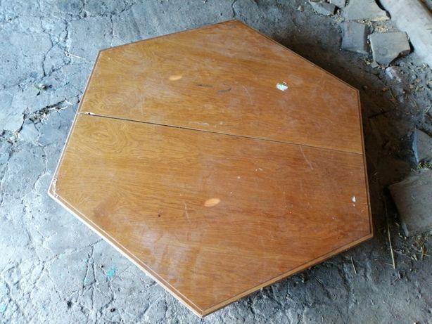 Stół dębowy sześciokątny